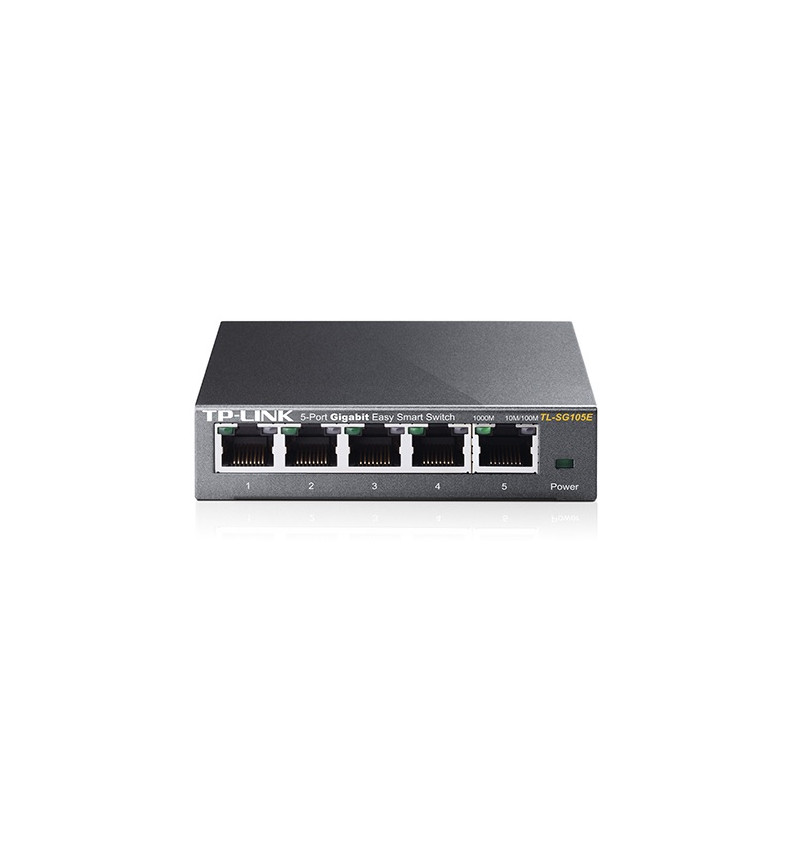 5-Port Gigabit Desktop Easy Smart Switch, 5 10/100/1000Mbps RJ45 ports, MTU/Port/Tag-based VLAN, QoS