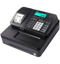 Casio SE-S100-S-BK - Caixa registadora com Faturas simplificadas, LCD 2 linhas, Permite definiçăo de
