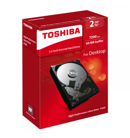 """Toshiba Disco Interno 3.5"""" 2TB P300 - HDWD120EZSTA"""