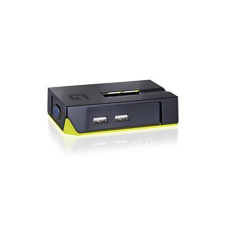 LevelOne 2 Port USB Desktop Switch (KVM-0222)