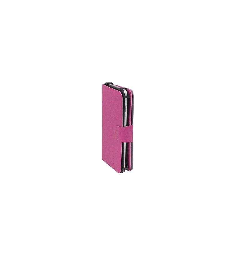 """Capa Smartphone Universal Giratória 5"""" Rosa"""