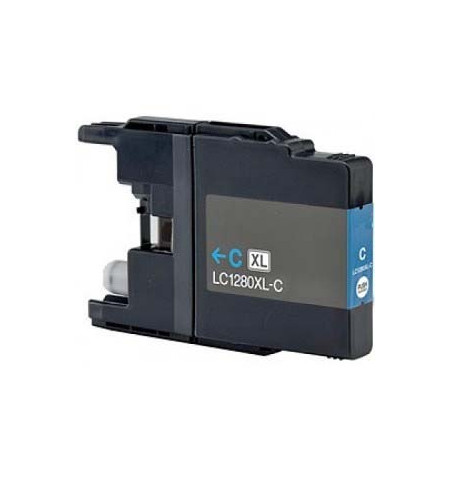 Tinteiro Brother Compatível LC1280C XL azul