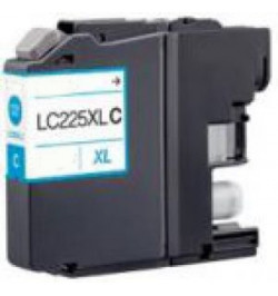Tinteiro Brother Compatível LC225 XL Azul