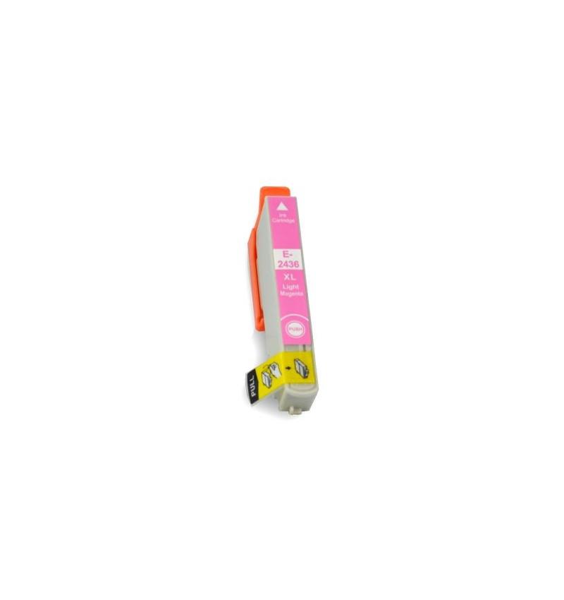 Tinteiro Compatível Epson 24 XL, T2436 magenta claro