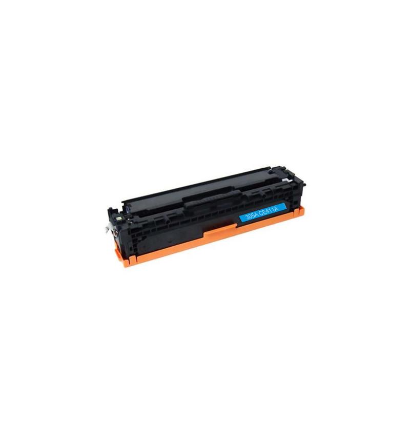 Toner 305A HP Compatível (CE411A) azul