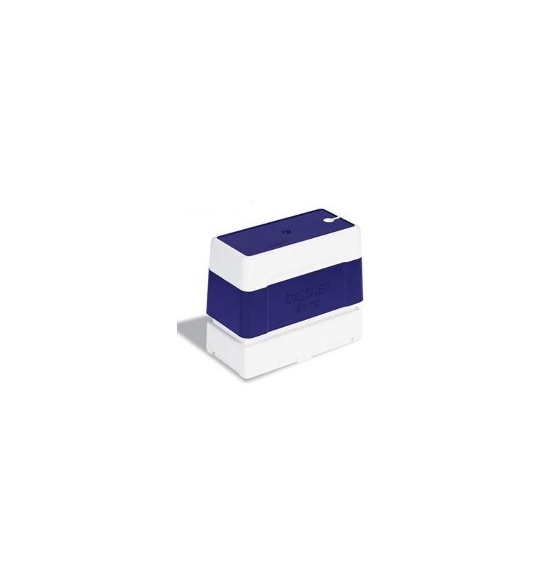 Tamanho de 27mm x 70mm, carimbo azul