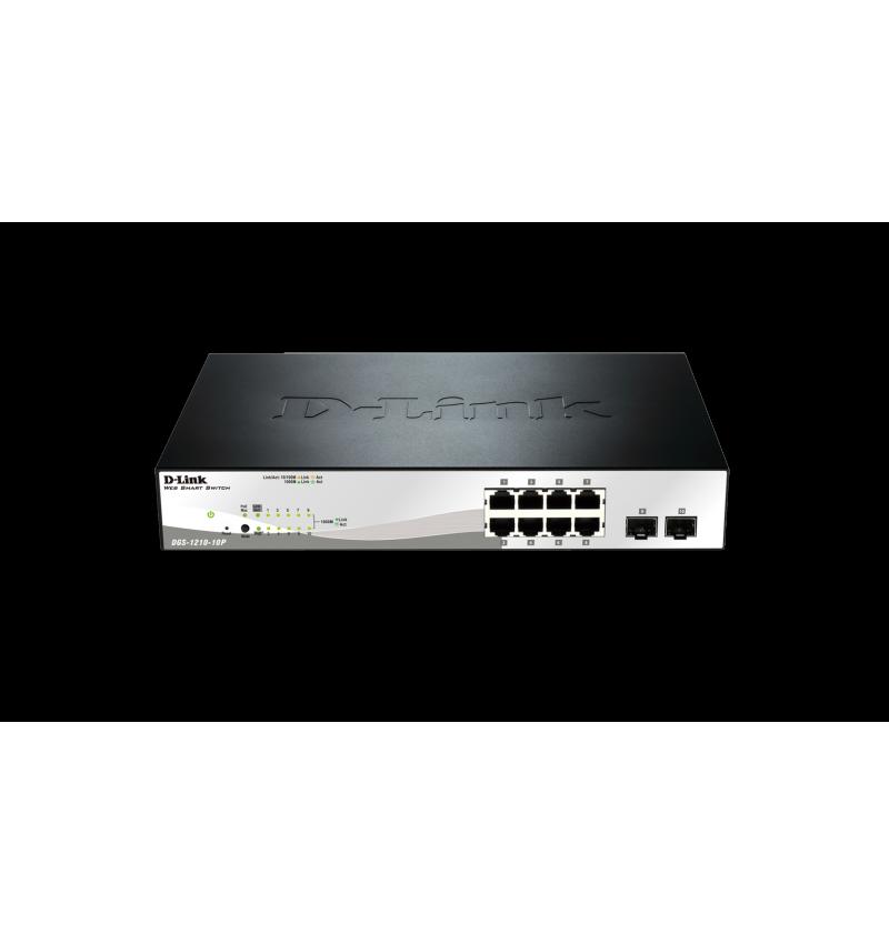 D-Link 10-Port Gigabit Smart Switch including 2 SFP ports - DGS-1210-10