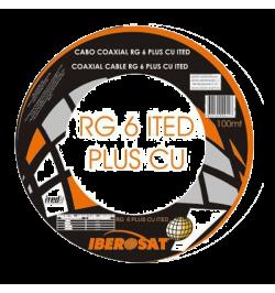 CABO COAXIAL ITED PRETO IBEROSAT - 100M - RG6PLUS PRETO