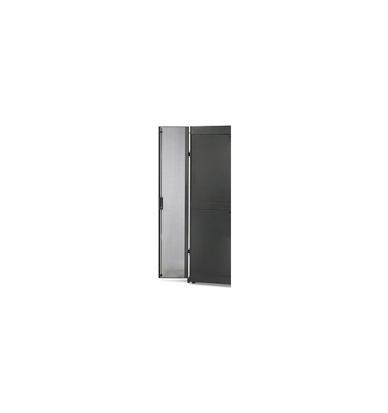 NetShelter SX 48U 600mm Wide Perforated Split Doors Black