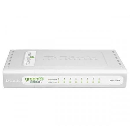 Switch D-Link - 8 Portas - 10/100/1000Mbps - DGS-1008D