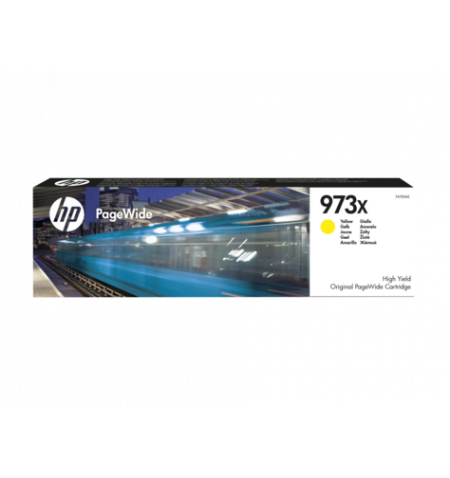 Toner Original HP 973X High PageWide Amarelo - F6T83AE