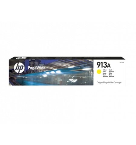 Toner Original HP 913A High PageWide Amarelo - F6T79AE