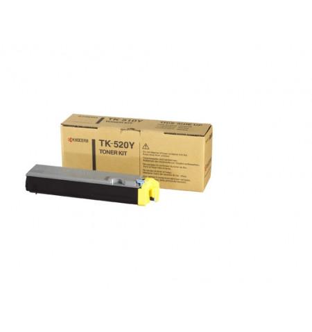 Toner Original Kyocera TK 520Y Amarelo - 1T02HJAEU0
