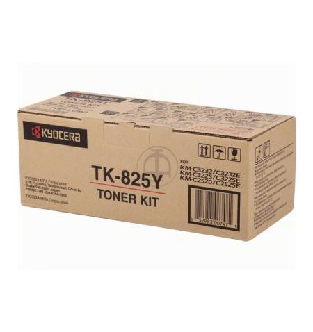 Toner Original Kyocera TK 825Y Amarelo - 1T02FZAEU0