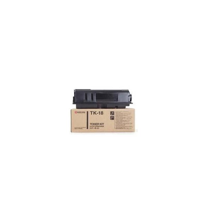 Kyocera TK 18 - Preto - kit de toner - para Kyocera FS-1018, FS-1118, FS-1118F MFP/KL3, FS-1118FDP MFP/KL3, FS-1020