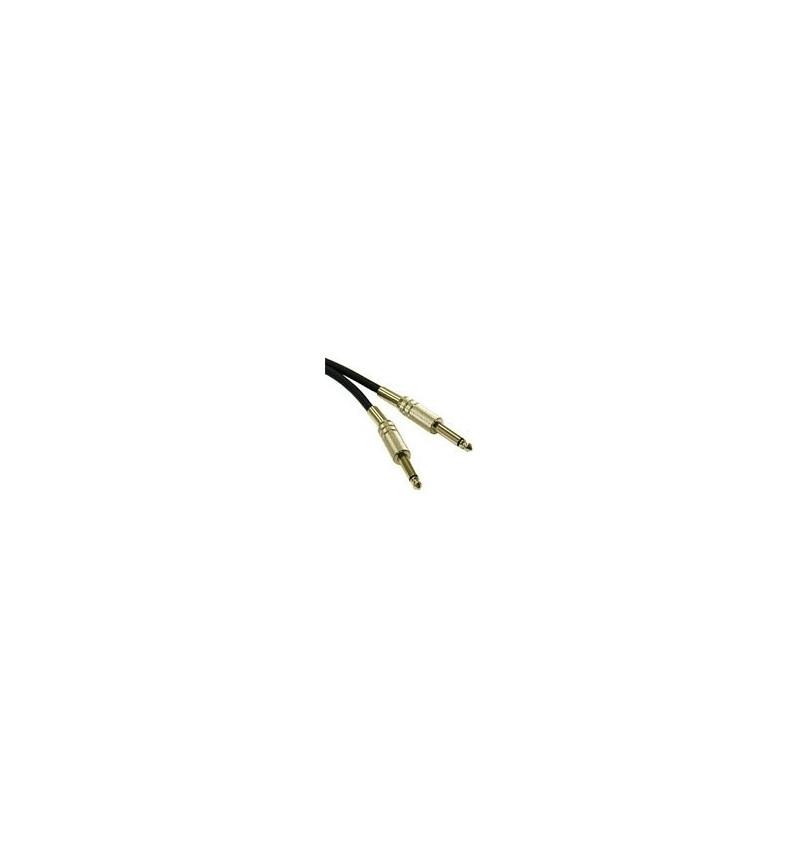 C2G Pro-Audio - Cabo de áudio - 22 AWG - estéreo fone 6.3mm (M) - estéreo fone 6.3mm (M) - 3 m - par trançado laminado blindado