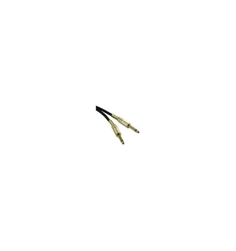 C2G Pro-Audio - Cabo de áudio - 22 AWG - estéreo fone 6.3mm (M) - estéreo fone 6.3mm (M) - 50 cm - par trançado laminado blindad