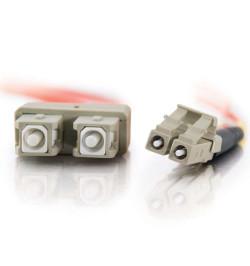 C2G Low-Smoke Zero-Halogen - Cabo patch - multi-modo LC (M) - SC multi-modos (M) - 1 m - fibra óptica - 50 / 125 micron - laranj