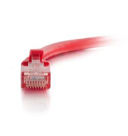 C2G Cat5e Booted Unshielded (UTP) Network Patch Cable - Cabo patch - RJ-45 (M) - RJ-45 (M) - 3 m - PTNB - CAT 5e - moldado, tran