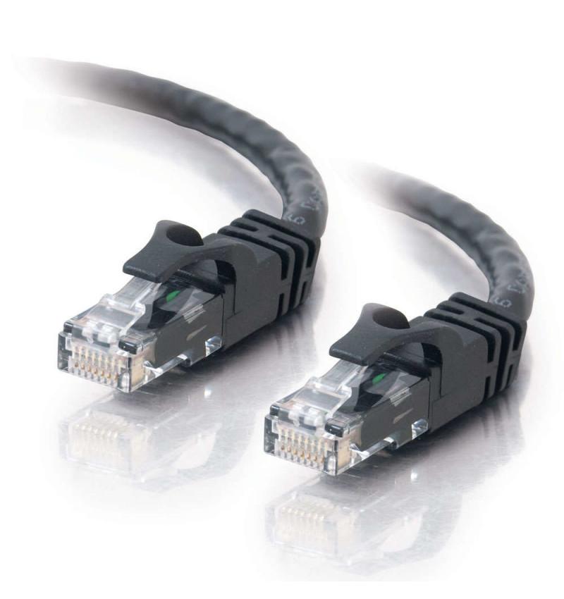 C2G Cat6 Booted Unshielded (UTP) Network Patch Cable - Cabo patch - RJ-45 (M) - RJ-45 (M) - 10 m - PTNB - CAT 6 - moldado, tranç