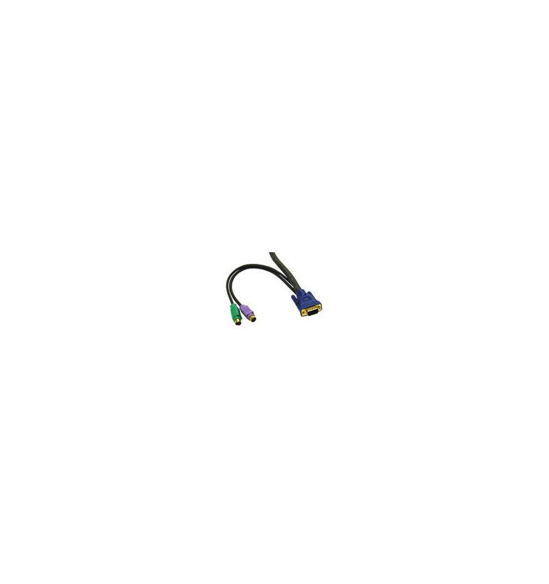 C2G Ultima 3-in-1 Universal - Cabo de teclado / vídeo / rato (KVM) - PS/2 de 6 pinos, HD-15 (M) - PS/2 de 6 pinos, HD-15 (M) - 3