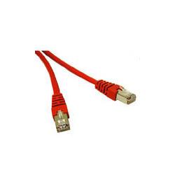 C2G Cat5e Booted Shielded (STP) Network Patch Cable - Cabo patch - RJ-45 (M) - RJ-45 (M) - 1 m - PTB - CAT 5e - moldado - vermel