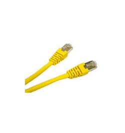 C2G Cat5e Booted Shielded (STP) Network Patch Cable - Cabo patch - RJ-45 (M) - RJ-45 (M) - 3 m - PTB - CAT 5e - moldado - amarel