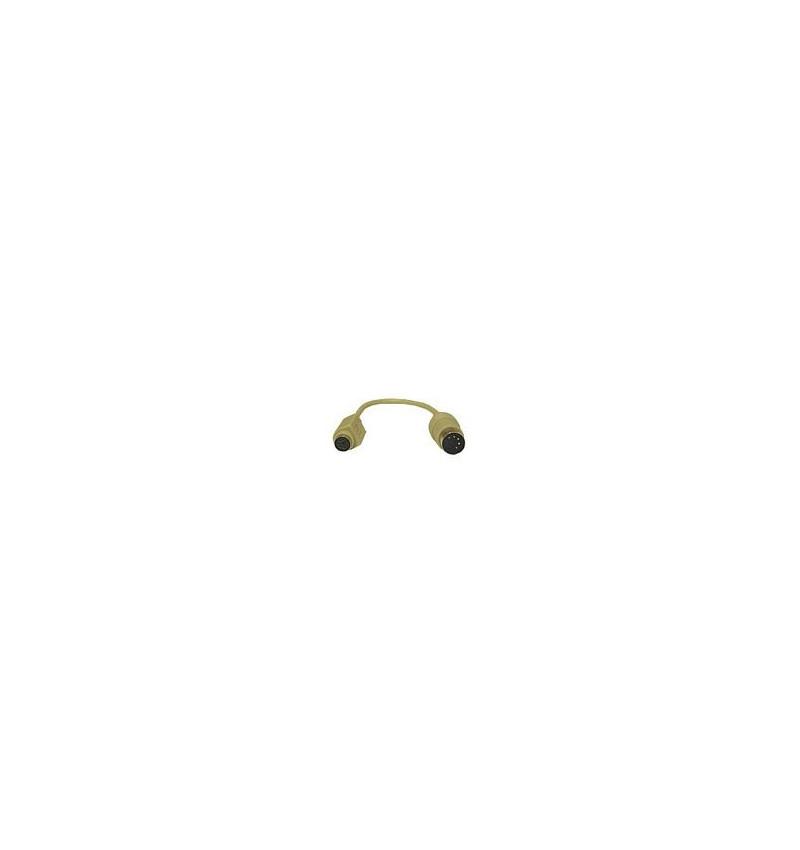 C2G - Adaptador de teclado - 5 PIN DIN (M) - PS/2 de 6 pinos (F) - 15 cm - moldado - bege