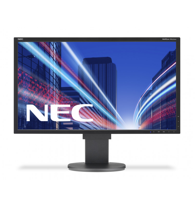 "NEC MultiSync EA223WM - Monitor LED - 22"" - 1680 x 1050 HD - TN - 250 cd/m2 - 1000:1 - 5 ms - DVI-D, VGA, DisplayPort - altifala"
