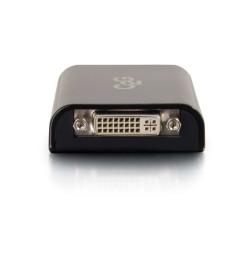 C2G USB 3.0 to DVI Video Adapter Converter - Adaptador de vídeo externo - SuperSpeed USB 3.0 - DVI - preto