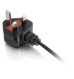 C2G Laptop Power Cord - Cabo de alimentaçăo (250 VAC) - BS 1363 (M) - IEC 320 EN 60320 C5 (F) - 50 cm - moldado - preto - Reino