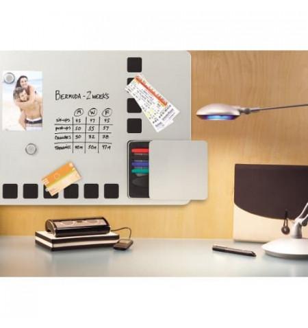 Nobo Quartet - Quadro combo - 610 x 390 mm - magnético - preto, prata