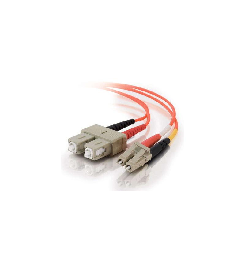 C2G LC-SC 50/125 OM2 Duplex Multimode PVC Fiber Optic Cable (LSZH) - Cabo de rede - multi-modo LC (M) - SC multi-modos (M) - 30