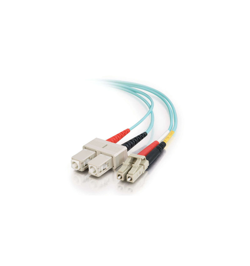 C2G SC-SC 10Gb 50/125 OM3 Duplex Multimode PVC Fiber Optic Cable (LSZH) - Cabo de rede - SC multi-modos (M) - SC multi-modos (M)