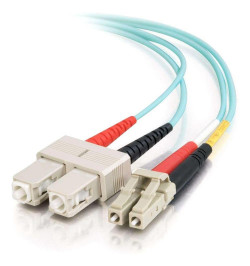 C2G LC-SC 10Gb 50/125 OM3 Duplex Multimode PVC Fiber Optic Cable (LSZH) - Cabo de rede - multi-modo LC (M) - SC multi-modos (M)