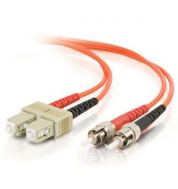 C2G SC-ST 50/125 OM2 Duplex Multimode PVC Fiber Optic Cable (LSZH) - Cabo de rede - ST multi-modos (M) - SC multi-modos (M) - 3