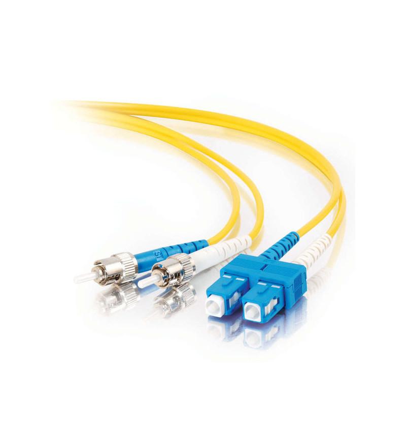 C2G SC-ST 9/125 OS1 Duplex Singlemode PVC Fiber Optic Cable (LSZH) - Cabo patch - SC modo único (M) - ST modo único (M) - 20 m -