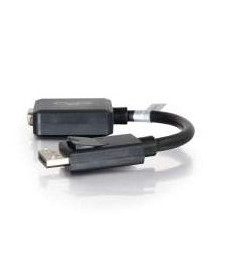 C2G DisplayPort Male to VGA Female Adapter Converter - Adaptador VGA - DisplayPort (M) - HD-15 (F) - 20 cm - com trava - preto