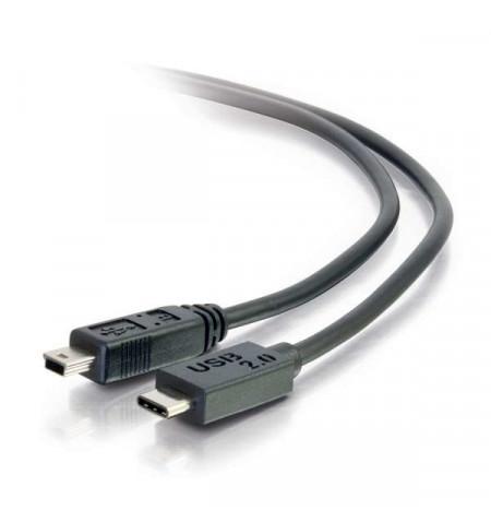 C2G - Cabo Mini USB Tipo B / Tipo C Preto - 88856