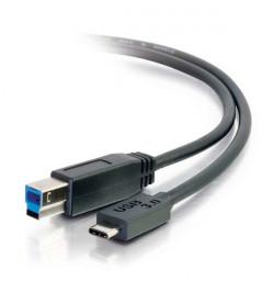 C2G - Cabo USB - USB Tipo C 24 pinos (M) - USB de 9 pinos Tipo B (M) - 1 m ( USB 3.0/ USB 3.1 ) - preto