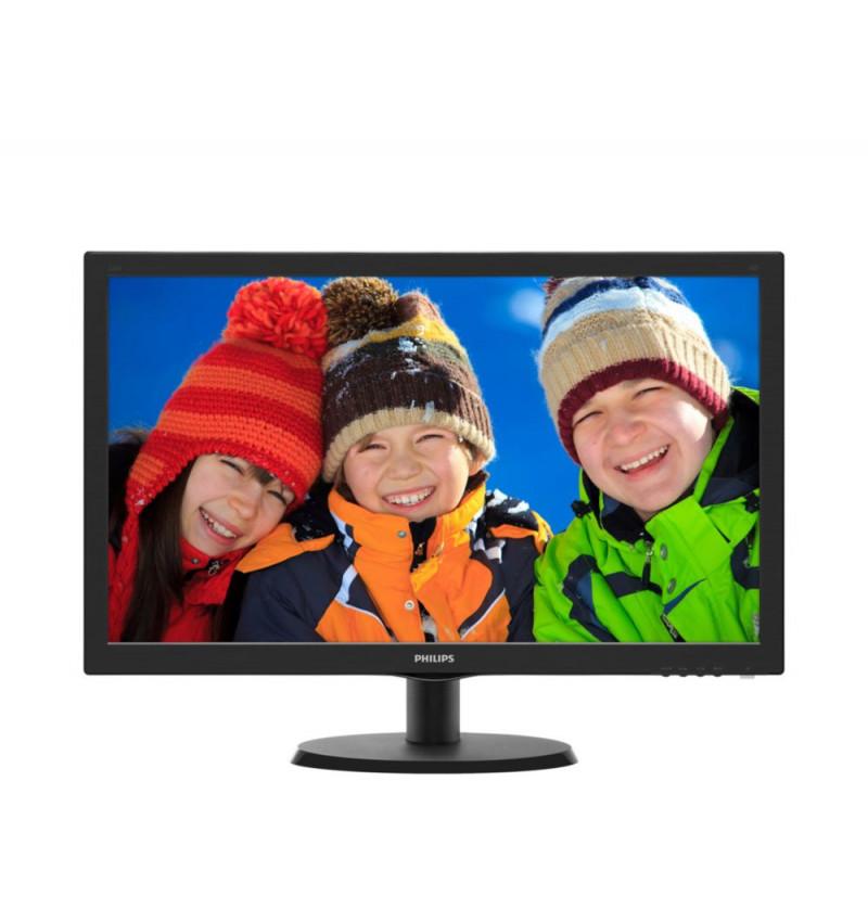 "Philips V-line 223V5LHSB2 - Monitor LED - 22"" ( 21.5"" visível ) - 1920 x 1080 Full HD - 200 cd/m2 - 600:1 - 5 ms - HDMI, VGA - p"