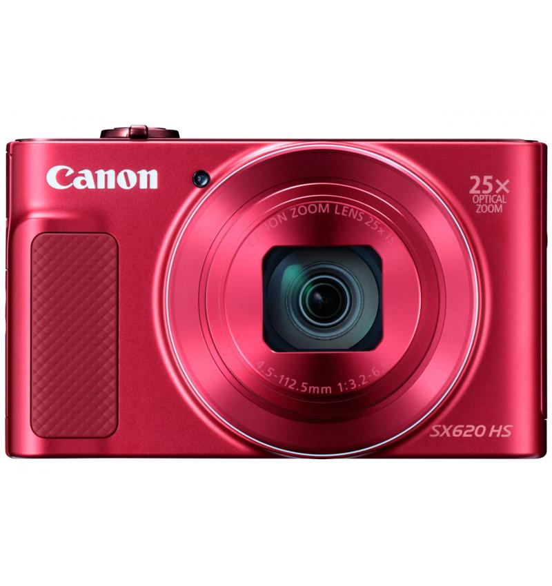 """PowerShot SX620 HS Vermelha - CMOS de 20.2 Megapixels, Zoom ótico de 25x, NFC, LCD 7,5 cm (3"""")"""