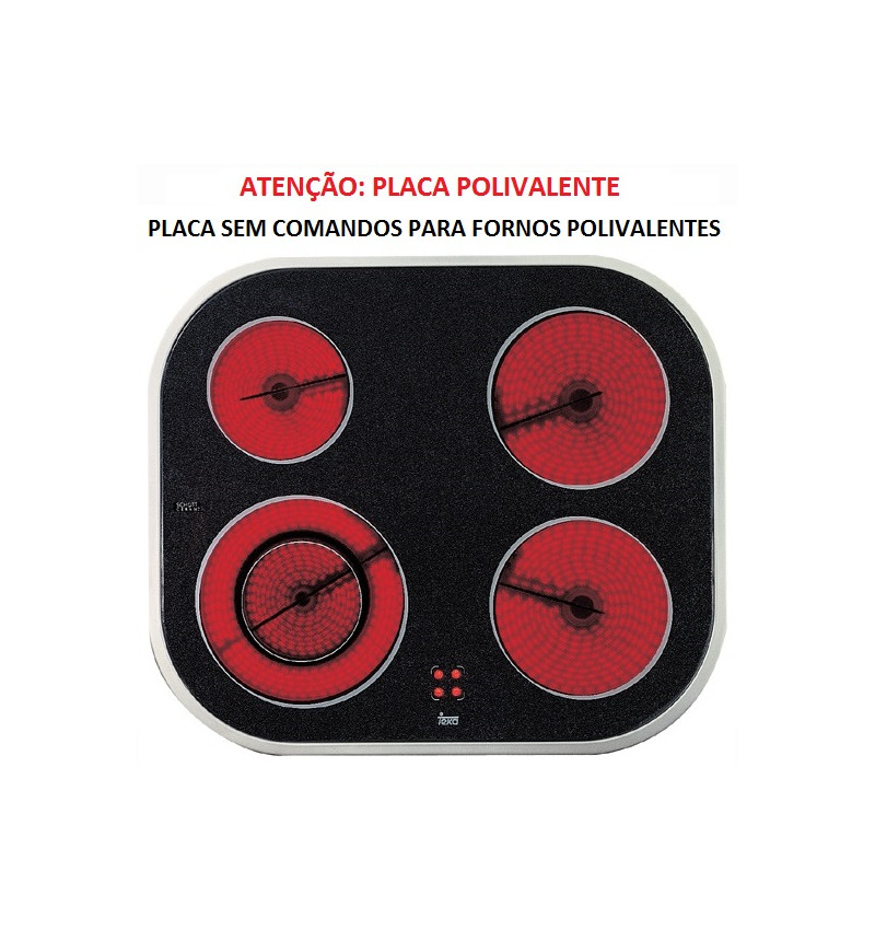 PLACA ENCASTRAR TEKA - VTN DC - INOX