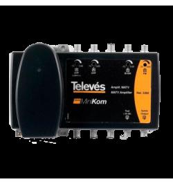 CENTRAL AMP. MINIKOM 4 ENTRADAS FM-BI/BIII-UHF-UHF TELEVES