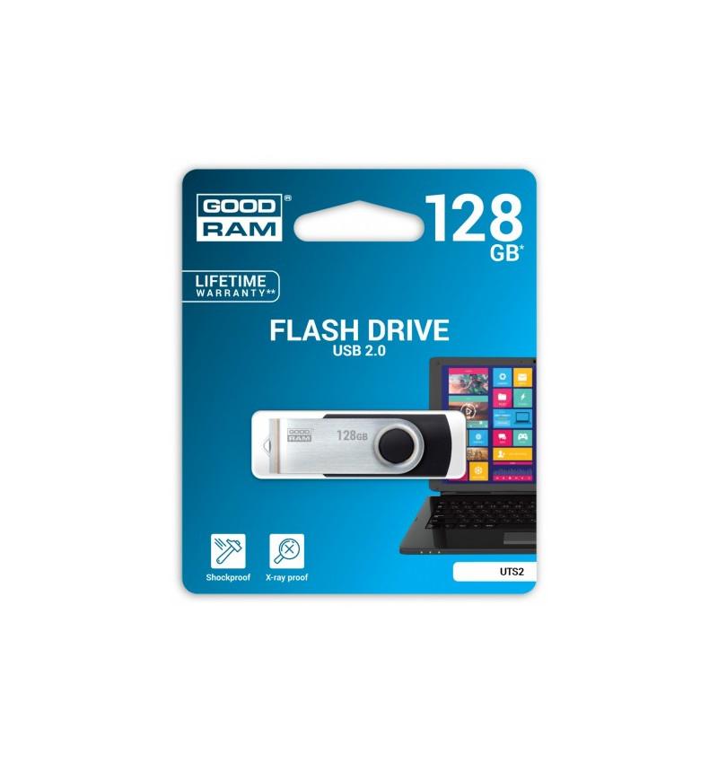 PENDRIVE 128GB TWISTER BLACK USB 2.0 - UTS2-1280K0R11
