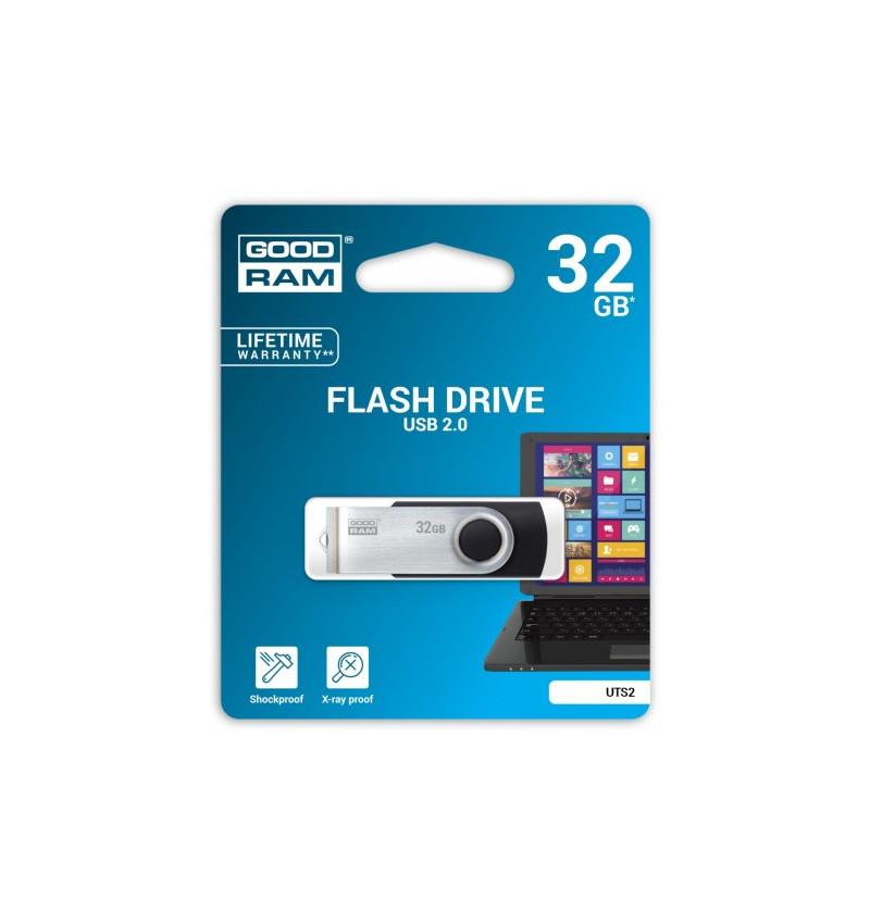 PENDRIVE 32GB TWISTER BLACK USB 2.0 - UTS2-0320K0R11