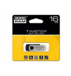 PENDRIVE 16GB TWISTER BLACK USB 2.0 - UTS2-0160K0R11
