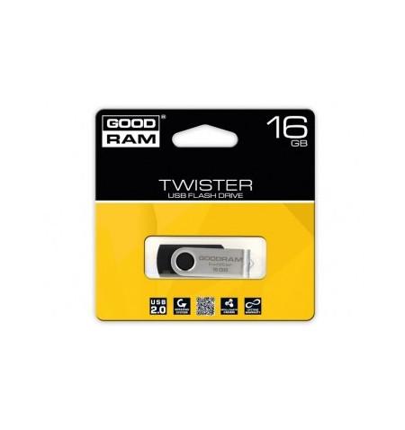 Pen Drive Goodram 16GB TWISTER BLACK USB 2.0 - UTS2-0160K0R11