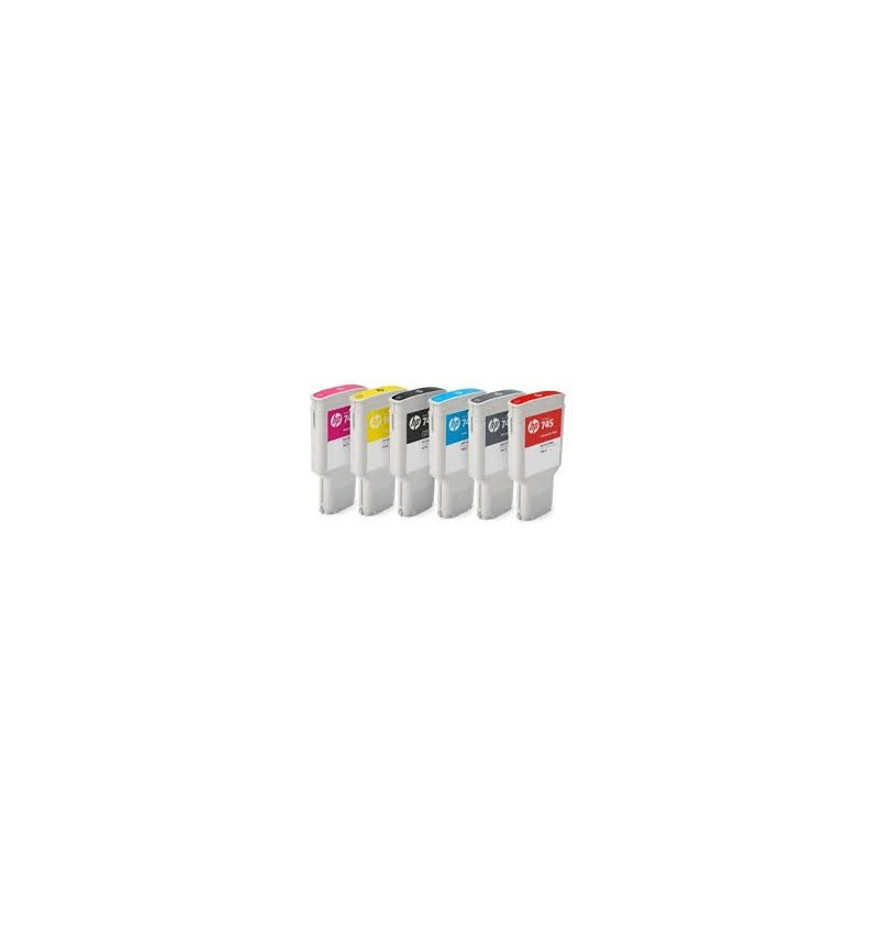 Tinteiro Plotter Original HP 745 300-ml Chromatic Red Ink Cartridge - F9K06A