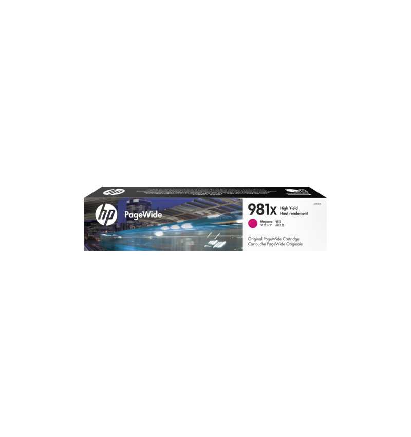 Tinteiro HP 981X High Yield Magenta Original PageWide Cartridge - L0R10A